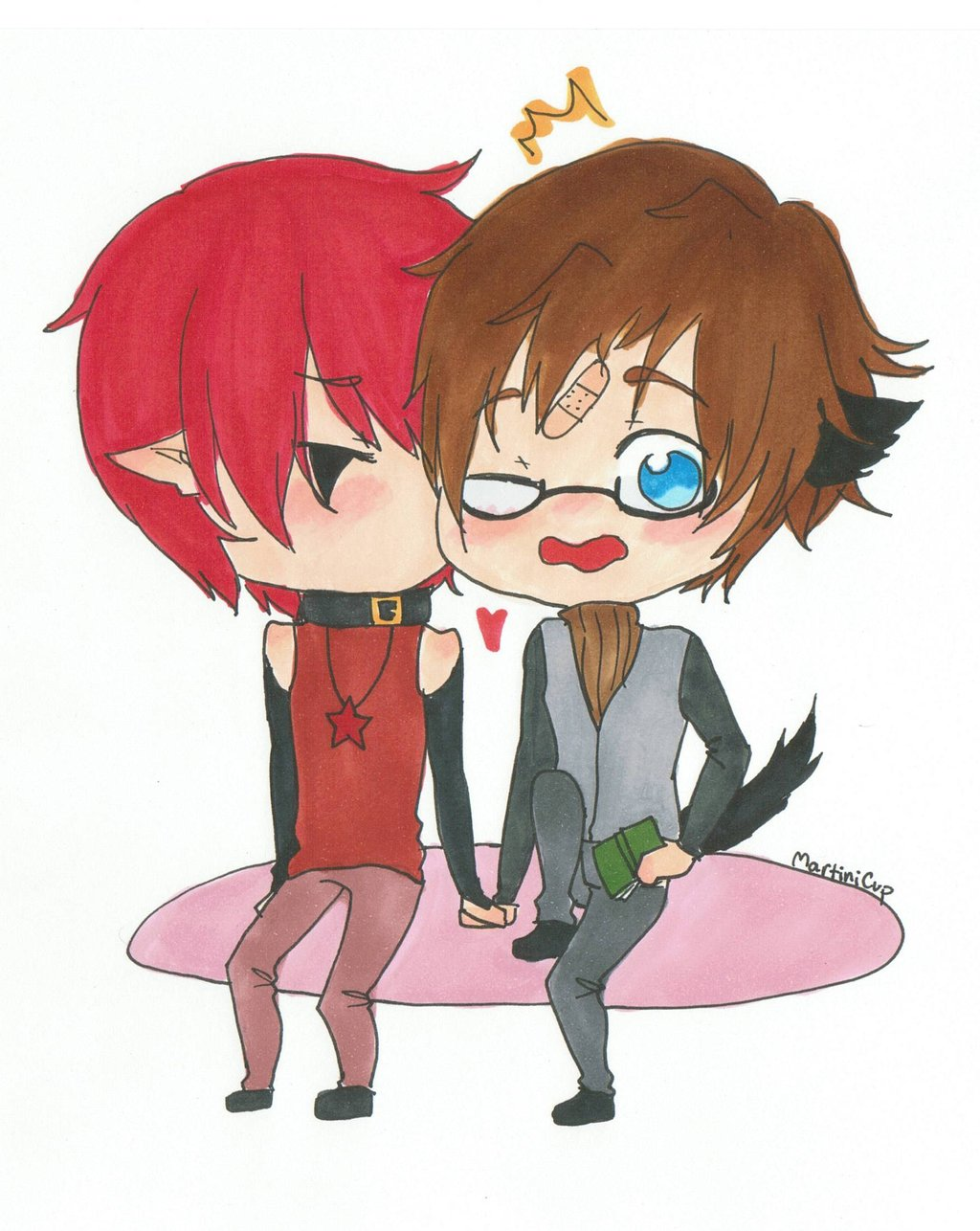 Displaying 18> Images For - Cute Chibi Couple Kissing