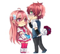 asher blanca chibi couple human // 996x901 // 629.0KB